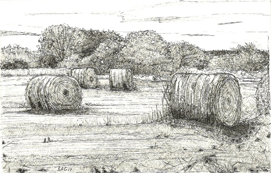 Hay bales - Wet Canvas - Sep Challenge